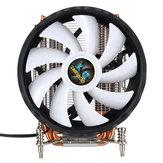 Kipas Pendingin CPU 12nm 6 Pipa Cooper 12 RGB Mengubah Warna Air Cooler Fan untuk Intel 2011