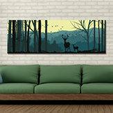 DYC 10683 Tek Sprey Yağ Resimlerinde Karikatür Geyik Orman Manzara Ev Dekorasyon Resimleri Için Duvar Sanatı