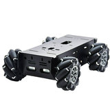 D-43 DIY Smart Metal RC Robot Car Chassis Base With 97mm Omni Wheels DC 12V Motor