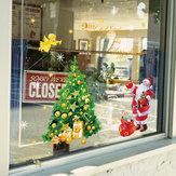 Miico SK9243 Adesivo natalizio Adesivo murale per albero di Natale rimovibile per decorazioni natalizie