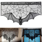Halloween Bat Lace Props Table Lamp Window Curtain Fireplace Cloth Home Decorations
