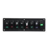 Voltmetro LED per interruttore doppio interruttore a bilanciere a 8 bande 12V-24V 3.1A 899 per barca marina per auto