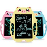 9-inch Smart Children Cartoon Pig LCD Writing Tablet Electronic Drawing Board Children's Smart Handwriting Draft Pad for Kids Adults for Home School Office 966801