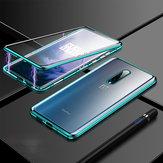 Bakeey 360º Kavisli Ekran Ön + Arka Çift taraflı Tam Vücut 9 H Temperli Cam Metal Manyetik Adsorpsiyon Çevirme Koruyucu Kılıf Için OnePlus 7 T PRO