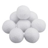 8Pcs / Set 2/3/4/5 / 7cm Boule de séchage en laine en tissu naturel Adoucisseur de linge Boule de séchage sans rides