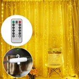 3M * 1M 3M * 3M USB LED Gordijn Venster Lichtslinger met Hook Up Icicle Garland Kerst Bruiloft Lamp Decor