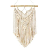Wiązana Macrame Knitting Wall Handmade Bohemian Hanging Tapestry Home Decor