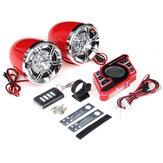 Red Motorcycle Handlebar bluetooth 5.0 Audio System FM Radio Stereo Amplifier Speaker