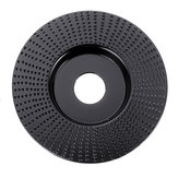 Drillpro Black 100x16/110x22mm Plane Wood Carving Disc Tungsten Carbide Shaping Disc Angle Grinding Wheel Sanding Carving Rotary Tool Abrasive Disc for Angle Grinder