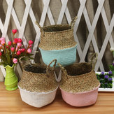 5PCS Mat Grass Belly Basket Storage Planta Pot Plegable Lavandería Bolsa Habitación Decorativa Maceta