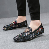 Floral Printed Slip Resistant Casual Walking Driving Loafers