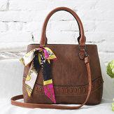 Women Stone Grain Fashion Scarf Bag Large Capacity Handbag