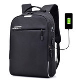 Men Coded Lock Anti-roubo USB carregador Laptop Bolsa Mochila