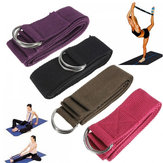 6FT Yoga Stretch Strap D-Ring Belt Fitness Training Strap Belt