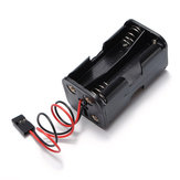 Battery Box Of Receiver Holder Case 4 AA RC Model 6v Servo Plug