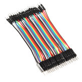 40pcs 20cm Color macho a macho Breadboard Salto de cable Alambre Jumper