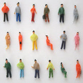 1:75 Scale OO Gauge Hand Painted Layout Model Train People Figure