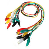 DANIU 10pcs 50cm Double-ended Clip Cable Alligator Clip Testing Probe Lead Wire