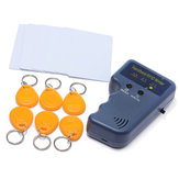 RFID 125KHz EM4100 ID Card Copier z 6 zapisywalnymi znacznikami i 6 kartami