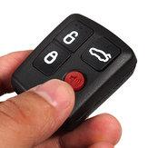 Remoto caso de cáscara de la llave 4 botones de negro por el territorio ford