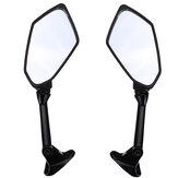Motorcycle Side Mirror Black Diamond Pattern For KAWASAKI ZX6R ZX-6R 2009-2011
