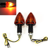 2x Motorcycle Turn Lights Indicators Stalk Blinker Bulb Amber 12V