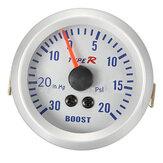 52mm Autometer Phantom Pointer Boost Vacuümmeter Spoor Wit