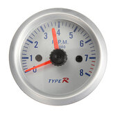 2 inch 52mm Blue LED Tacho 12V Tachometer Pointer Gauge Meter