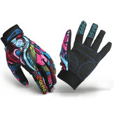 Motorcycle Racing Biker Full Finger Gloves Skeletskedel Ben