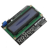 Keypad Shield Blue Backlight For Robot LCD 1602 Board Geekcreit for Arduino - products that work with official Arduino boards