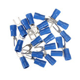 20pcs Heat Shrink Blue Wiring Crimp Butt Fork Terminals Connectors