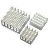 3pcs Adhesive Aluminium Heat Sink Cooler Kit Untuk Pendinginan Raspberry Pi