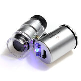 Mini Pocket LED 60X Microscope Magnifier Loupe Jewelry