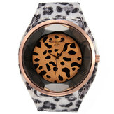 Fashion Women Sexy Leopard Brilliant Crystal Fur Big Wrist Watch