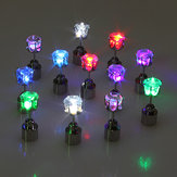 Flashing Flower Led Earrings Ear Stud Perfect for Party Christmas Accessories