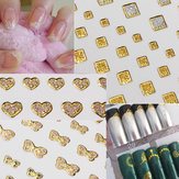 15 Style Glitter Golden Water Nail Art Transfer Sticker Tipsy Nail Art
