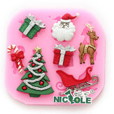 F0534 Silicone Christmas Reindeer Cake Mould Soap Chocolate Mold
