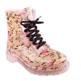 Candy Colorful Crystal Clear Flat Heel Rain Boots
