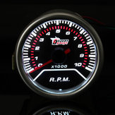 2 Inch 52MM Universal Red LED Tachometer Car Gauge Meter 0-10000RPM