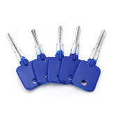 DANIU 5pcs Lock Repairing Tools Locksmith Try-Out Keys Set for Cross Lock