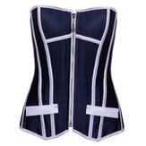 Blue White Striped Comfortable Women Corset