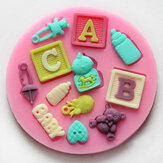 F0490 Silicone Baby Letter Beren Cake Mould Fondant Decoratie Mould