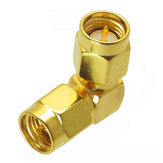 SMA Male to Male Adapter RF Connector Right Angle 90 Degree For FPV RC Drone