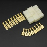 6.3mm Male Female 8 Way Connectors Terminal for Motorcycle Car