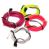 2M Neon Light Glow EL Wire Car Rope Strip + Charger Mobil Driver