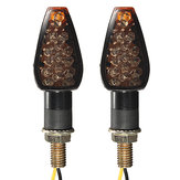 Universal 2x Motorcycle 10LED Turn Signal مؤشر ضوء 12V