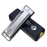 Silver Star HOHNER 10 Gaten C Key Blues Harmonica