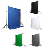Fond noir blanc bleu bleu vert Chromakey 6x9 Muslin Video Background
