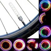 2 PCS 5 LED 8 Flashing Sepeda Valve Light Bike Wheel Light