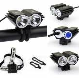 2xCREE  U2 LED Cycling Bike Headlight Headlamp Front Light